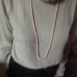 1 strand of pink seed pearls & matching bracelet